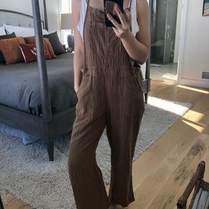 Free People Natural Sights Overalls in Copper